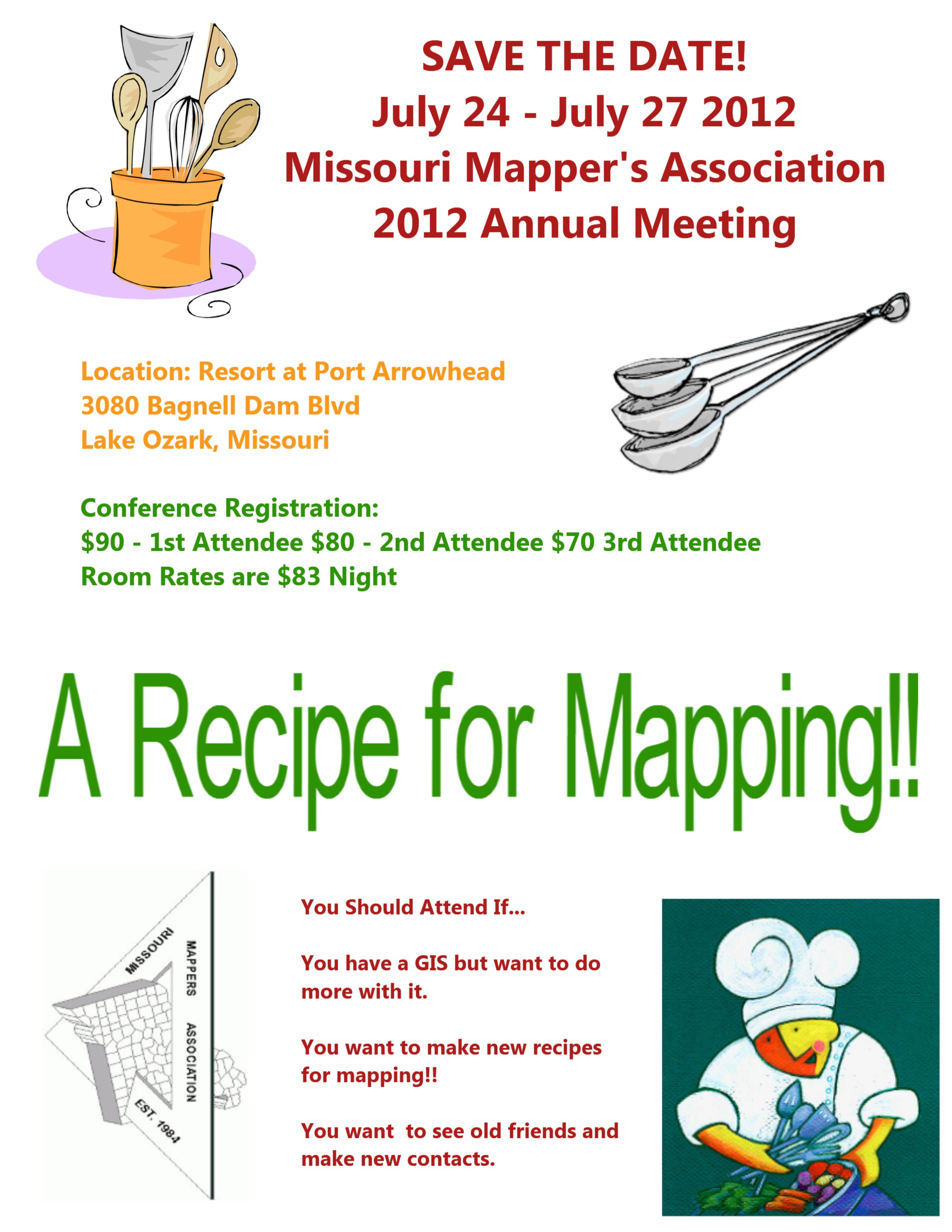 Save The Date Missouri Mappers Association 2012 Annual Meeting
